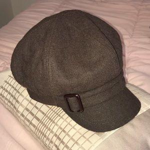 Nine West Brown Newsboy Hat